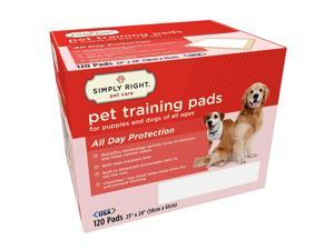 "Simply Right Pet Training Pads, 23"" x 24"" - 120 ct."