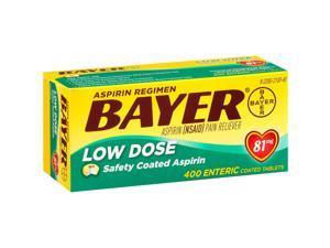 Bayer Low Dose 81 mg Aspirin Regimen -400 Tablets