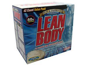 Lean Body Vanilla Ice Cream Flavor, 42 Packets, 2.78 oz (79 g) Each, From Labrada Nutrition