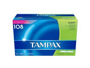 Tampax Super Absorbency Unscented Tampons (108 count)