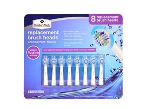 Member's Mark Replacement Brush Heads with Easyflex Flossing 8 ct.