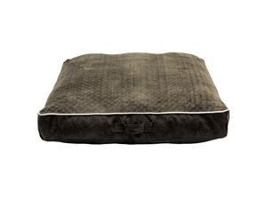 """Member's Mark Chopped Memory Foam Pet Bed, 34"""" x 34"""" (Dark Brown)"""