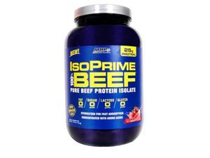MHP Isoprime 100% Beef Protein Isolate Powder, Strawberry, 1.63 Pound