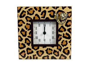 Clock Gift Glass Leopard