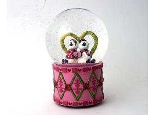 Musical Water Globe Wedding frist Love Heart Panda D-Happiness