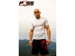 POSS - Compression Short Sleeve Rashguard (white) Size XL