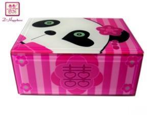 Trinket Jewelry Box Wedding Panda Glass D-Happiness