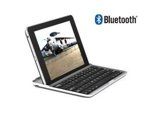 GSAstore Mobile Bluetooth Keyboard for Nexus 7 Ultra Slim with Rubberized Non-Slip Grip Back (Silver with Black Keys)