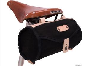 Banjo Brothers Minnehaha Canvas Barrel Saddle Bag: Black