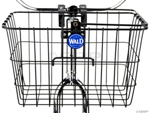 Wald 3133 Front Quick Release Basket with Bolt-On Mount: Gloss Black