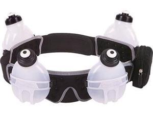 FuelBelt Revenge 4-Bottle Hydration Belt: Black SM