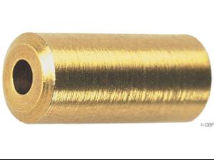Wheels Mfg Brass Cable Ferrule, 5.0mm, Bottle of 50