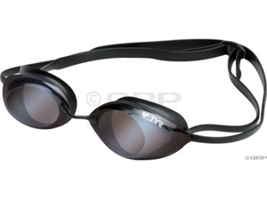 Tyr Tracer Racing Metallized Swim Goggles Clear Mirror Ice