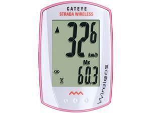 CatEye Strada Wireless Cycling Computer: Pink/White