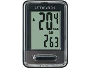 Cateye Velo 9 Cycling Computer~ 9 Functions~ CC-VL820~ Black