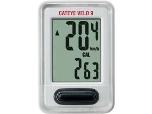 Cateye Velo 9 Cycling Computer~ 9 Functions~ CC-VL820~ White