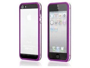 Apple iPhone 5 Transparent Bumper Purple with Bonus Screen Protector