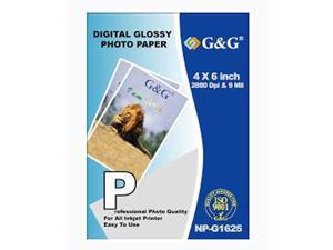 G&G 4 X 6 Inch Digital Glossy Photo Paper - 100 Sheets