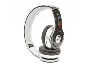 A1-Tech Wireless Bluetooth Stereo Headset with Mic and FM Radio - Black For iPhone 5 iPhone 6 iPad Galaxy S5 S4 Note 2 3