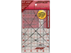 "The Cutting EDGE Frosted Ruler-4-1/2""X8-1/2"""