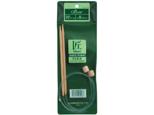 "Bamboo Flexible Knitting Needles 20""-Size 7"
