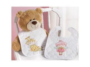 "Garden Fairies Bib Pair Stamped Cross Stitch Kit-9""X14"" Set Of 2"