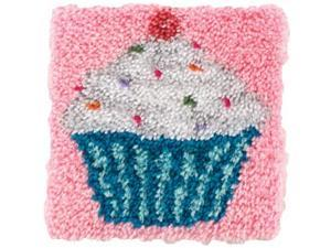 "Wonderart Latch Hook Kit 12""X12""-Cupcake"