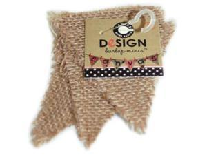 Paintable Burlap Shapes-Mini Triangle 3/Pkg