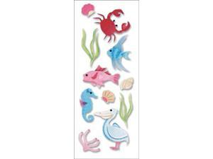 A Touch Of Jolee's A Day At The Beach Dimensional Stickers-Sealife South