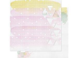 """Colors Wash Double-Sided Cardstock 12""""X12""""-Die-Cut Brilliant"""