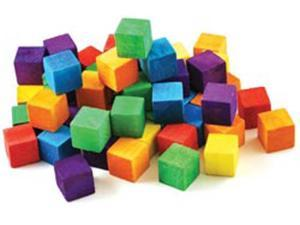 "Craftwood Cubes .625"" 36/Pkg-Colored"