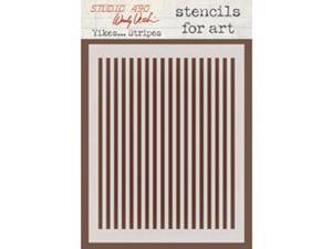 Wendy Vecchi Studio Stencil Collection-Yikes...Stripes