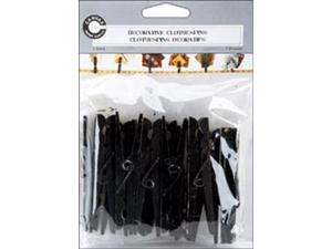 Decorative Clothespins 12/Pkg-Distressed Black