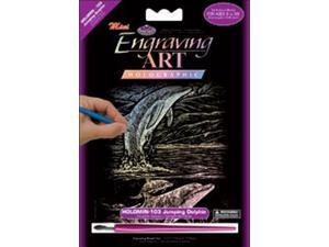 "Mini Holographic Engraving Art Kit 5""X7""-Jumping Dolphin"