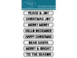 "Technique Tuesday Clear Stamps 4""X6""-Peace And Joy"