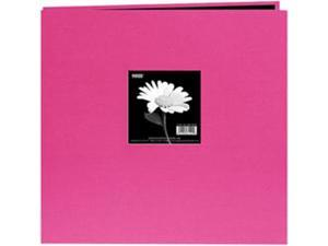 "Book Cloth Cover Postbound Album With Window 12""X12""-Bright Pink"