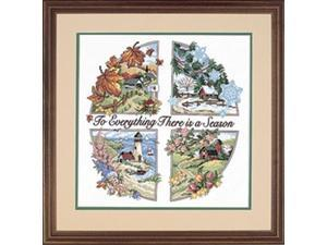 "A Season For Everything Stamped Cross Stitch Kit-14""X14"""