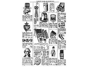 Tim Holtz Red Rubber Stamp-Patriotic Catalog