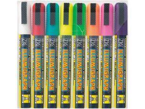 Zig Illumigraph Broad Tip Markers 8/Pkg-