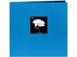 "Book Cloth Cover Postbound Album With Window 12""X12""-Sky Blue"