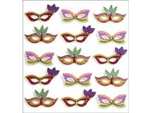 Jolee's Mini Repeats Stickers-Mardi Gras Masks