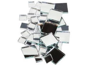 Mirrored Glass Tile 100/Pkg-Square Assorted