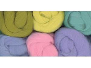 Paint Box Wools .33 Ounce 6/Pkg-Misty Morning -Pk/Blu/Grn/Seafm/Yel/Lav