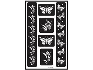 "Over 'n' Over Reusable Glass Etching Stencils 5""X8"" 1/Pkg-Butterfly"