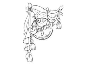 Once Upon A Time Cling Stamp-Theater Curtain