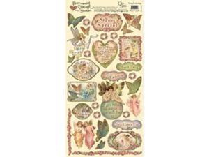 "Heartwarming Vintage Cardstock Stickers 6""X12""Sheet-Fairy Enchanting"