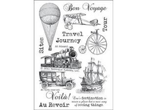 "Technique Tuesday Clear Stamps 4""X6""-All Aboard"