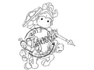 Once Upon A Time Cling Stamp-Black Knight Edwin