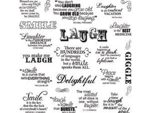 """Fiskars Quote Clear Stamps 8""""X8""""-Laugh With Me"""