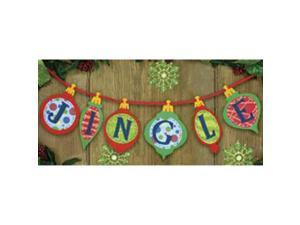 "Jingle Banner Felt Applique Kit-36""X6-1/2"""